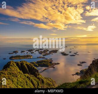 View from mount Festvagtinden in Norway