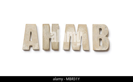 Capital letters made of concrete - Stock Photo