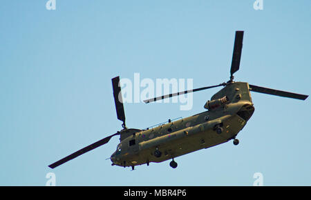 Chinook Helicopter at Wales National Airshow 2017 - Stock Photo
