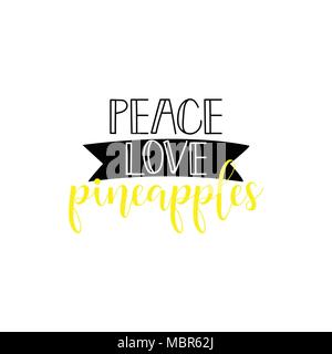 Peace, love, joy  Typography, hand lettering Quote  Vector