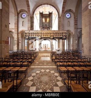 St. Maria im Kapitol, Romanesque Church, Cologne, Rhineland, North Rhine-Westphalia, Germany - Stock Photo
