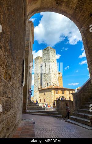 San Gimignano village, Siena district, Tuscany, Italy