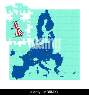 concept image of Brexit, Britain leaving the EU - Stock Photo