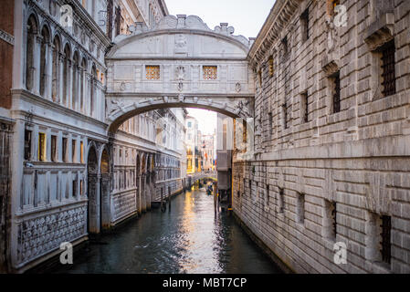 The Bridge of Sighs (Ponte dei Sospiri), Venice, Italy - Stock Photo
