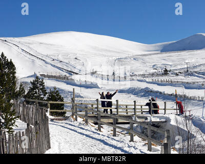 Cairngorm Mountain ski resort in Scotland - Stock Photo