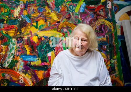 Gillian Ayres, artist, who has died recently - Stock Photo