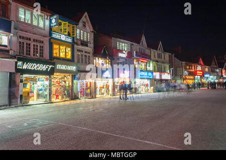 SHIMLA, INDIA - NOVEMBER 06, 2015: Mall Road is the main street in Shimla, the capital city of Himachal Pradesh, India. - Stock Photo