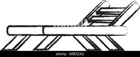 beach seat icon over white background, vector illustration - Stock Photo