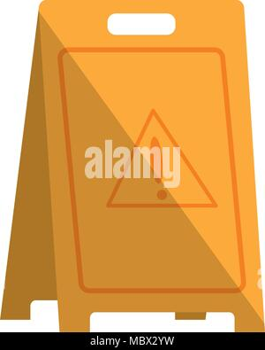 plastic caution wet floor sign - Stock Photo