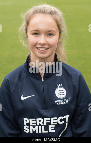 London, UK. 11th Apr, 2018. Albery of Middlesex County Cricket Club womens team. Credit: David Rowe/Alamy Live News - Stock Photo