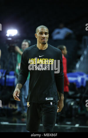 Los Angeles, CA, USA. 11th Apr, 2018. Los Angeles Lakers guard Gary Payton II (23) before the Los Angeles Lakers vs Los Angeles Clippers at Staples Center on April 11, 2018. (Photo by Jevone Moore) Credit: csm/Alamy Live News - Stock Photo