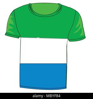 T-shirt flag Sierra - Leone - Stock Photo