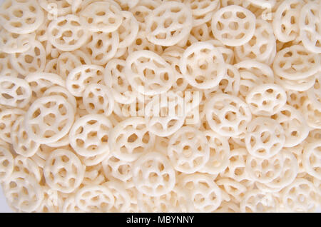 Junk food, potato ring on a background - Stock Photo