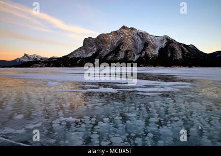 Frozen Abraham Lake - Stock Photo