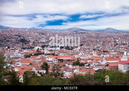 Sucre the constitutional capital of Bolivia, the capital of the Chuquisaca Department - Stock Photo