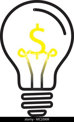 Light Bulb Lamp With Us Dollar Currency Symbol Stock Vector Art