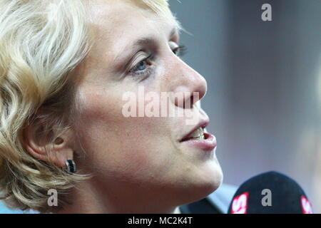 Zurich, Switzerland. 08th, Sep 2011.  Christina Obergfoll of Germany  after the women's Javelin Throw during the IAAF Diamond League athletics competi - Stock Photo