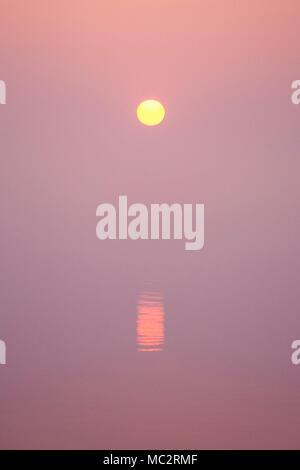 Misty Sunrise over Hickling Broad Norfolk