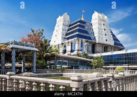 ISKCON (International Society for Krishna Consciousness) Temple in Bangalore - Stock Photo