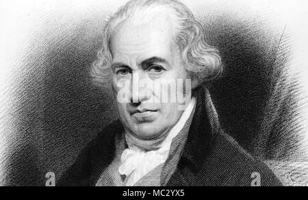 JAMES WATT (1736-1819) Scottish inventor - Stock Photo