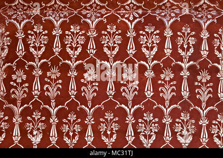 AGRA, INDIA - APRIL 10: Pattern on Taj Mahal on April 10, 2012 in Agra, India. Taj Mahal is widely recognized as the jewel of Muslim art and one of th - Stock Photo