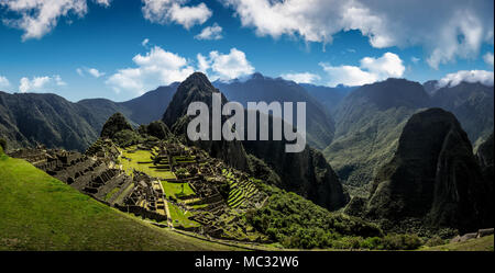 Machu Picchu Peru - Panoramic View on a mountain. - Stock Photo