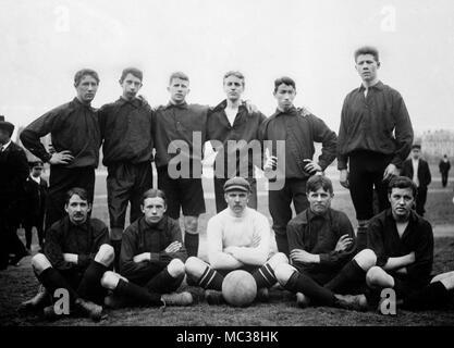 Swedish football team group portrait, ca. 1912.