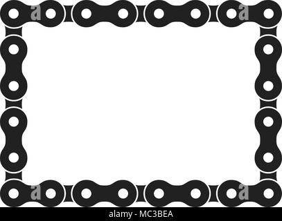 Rectangular Frame Made of Bike or Bicycle Chain. Monochrome Black ...