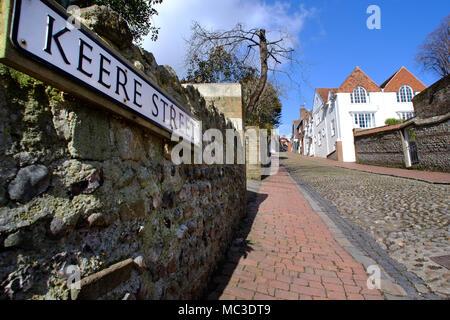 Keere Street, Lewes, East Sussex - Stock Photo
