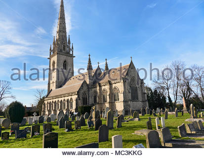 st margarets church in bodelwyddan st asaph in north wales uk - Stock Photo