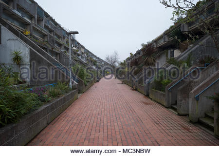 Alexandra Road housing estate in Camden: London. - Stock Photo