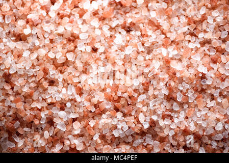 Pink himalayan salt background. Ingredients for cooking. Banner - Stock Photo