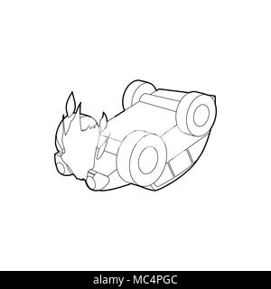 Car Accident Icon Outline Style Stock Vector Art Illustration