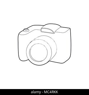 SLR camera icon, outline style - Stock Photo