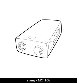 Electronic cigarette charger icon, outline style - Stock Photo
