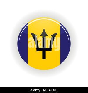 Barbados icon circle - Stock Photo