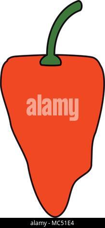 habanero chili pepper icon over white background, colorful design. vector illustration - Stock Photo