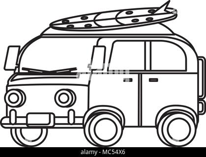 3d6f609402 surf van icon over white background