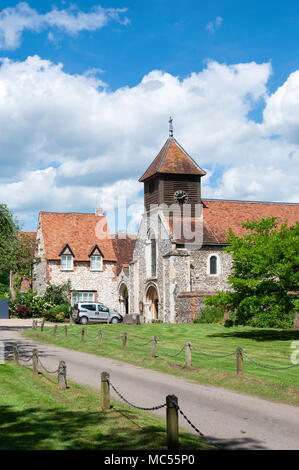 St Mary The Virgin Church, High Street, Hurley, Berkshire, England, United Kingdom - Stock Photo