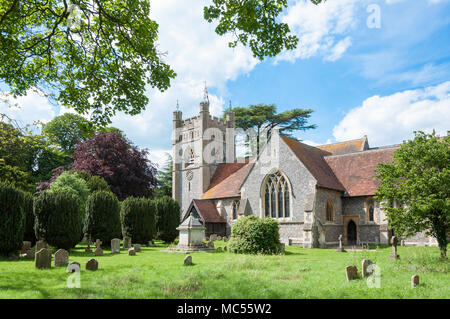 St Mary The Virgin Church, Hambleden, Buckinghamshire, England, United Kingdom - Stock Photo