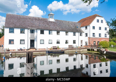18th century Hambleden Mill, Mill End Lock, Hambleden, Buckinghamshire, England, United Kingdom - Stock Photo
