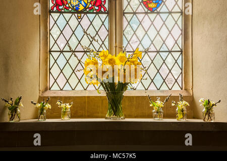 An Easter Flower Arrangement In Ringsfield Church In Suffolk England Uk Stock Photo Alamy