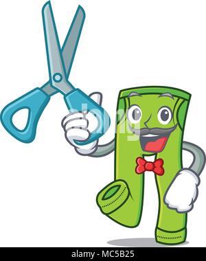 Barber pants character cartoon style vector illustration - Stock Photo