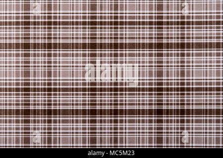 Chequered paper pattern closeup background in shades of brown and white. - Stock Photo