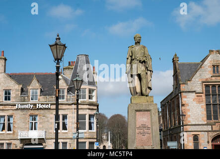 Statue of Charles Gordon Lennox Fifth Duke of Richmond in Huntly Aberdeenshire. - Stock Photo