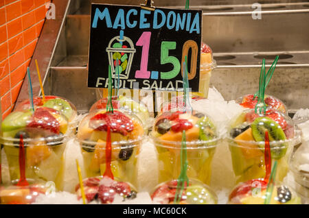 Fresh fruit on sale at a market stall. - Stock Photo