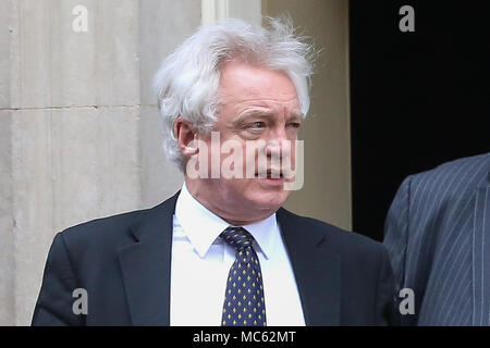 Ministers departs from No 10 Downing Street after attending the weekly Cabinet Meeting.  Featuring: David Davis - Brexit Secretary Where: London, United Kingdom When: 13 Mar 2018 Credit: Dinendra Haria/WENN - Stock Photo