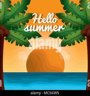 hello summer vacations - Stock Photo