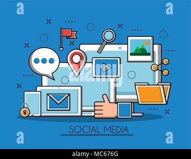 social media networks - Stock Photo