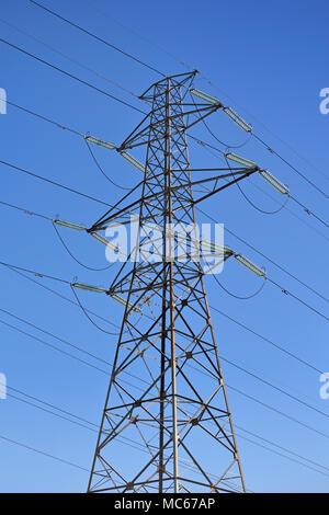 Electricity Pylon, Low Angle - Stock Photo